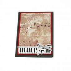 """Ръчно изработена коледна картичка """"Музика"""""""