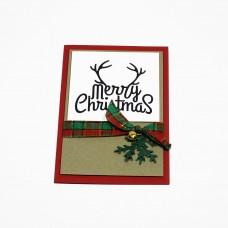 """Ръчно изработена коледна картичка """"Merry Christmas"""""""