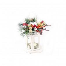 Коледен фенер бял