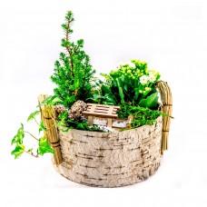 Коледна кошница с цветя